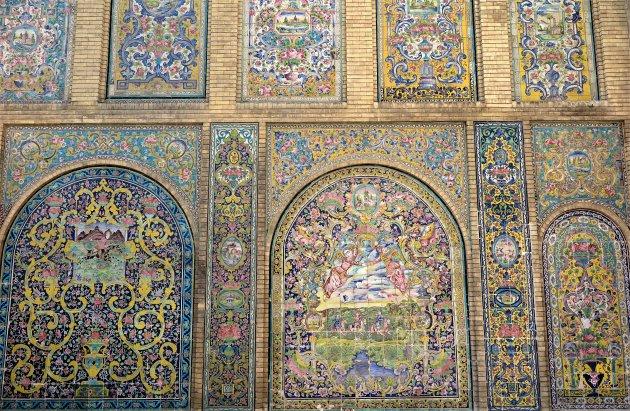 Golestan's keramische muur