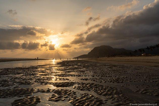 Een avond op het strand in Oman