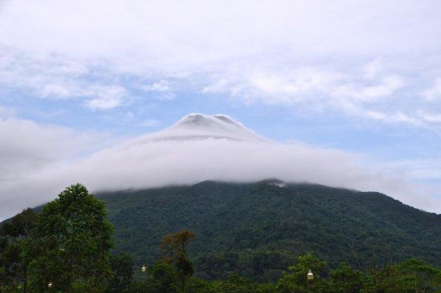 Gesluierde vulkaan
