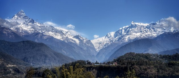 Uitzicht op de Annapurna