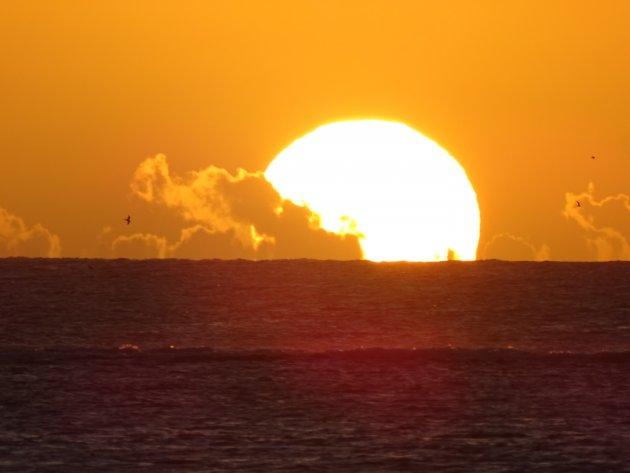 Zonsondergang op Mauritius