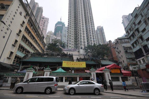 Man Mo tempel in Hong Kong