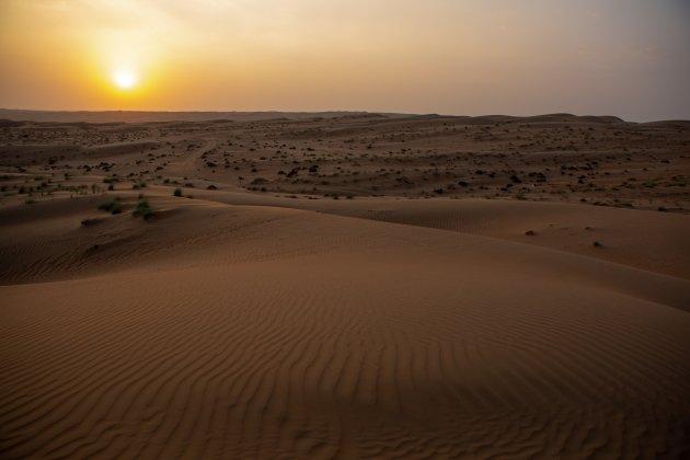 Zonsondergang Oman