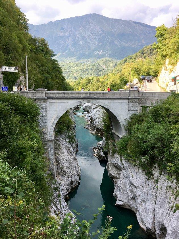 Beroemde brug van Kobarid