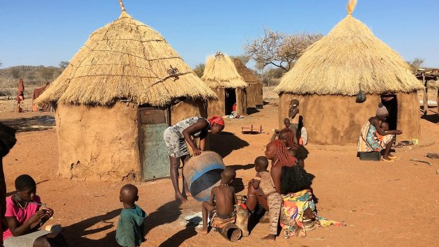 Ontbijt van de Himba's