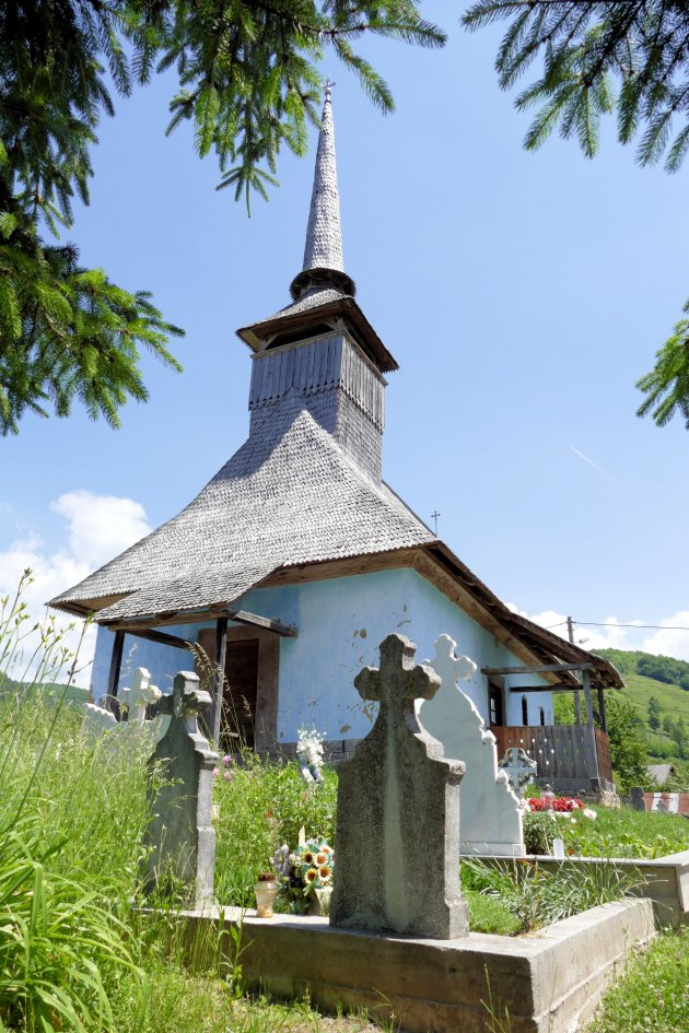 Houten kerkje