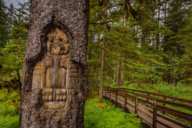 Tlingit hout sculptuur