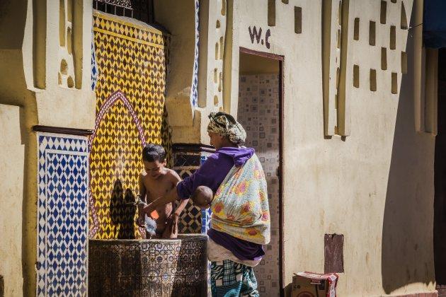 Afkoelen in Meknes