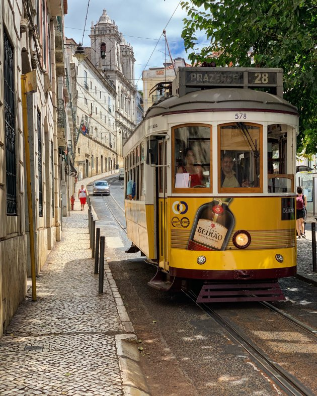 Rolling around in the streets of Lissabon