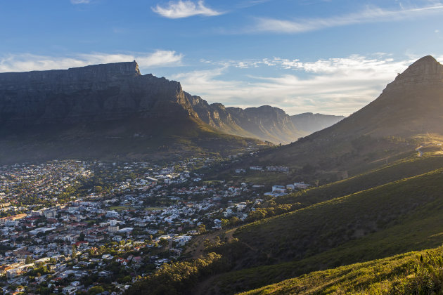 Signal Hill, uitzicht op Kaapstad en de tafelberg