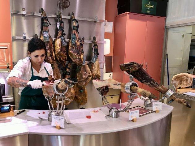 Heerlijke ham op Ibiza
