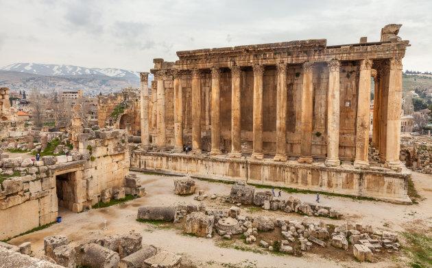 De tempel van Bacchus in Baalbek