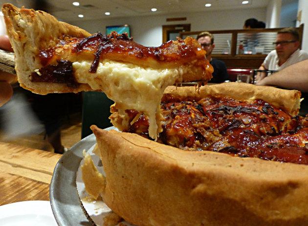 mmmm stuffed pizza!