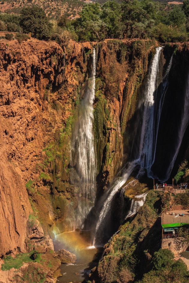 De watervallen in volle glorie