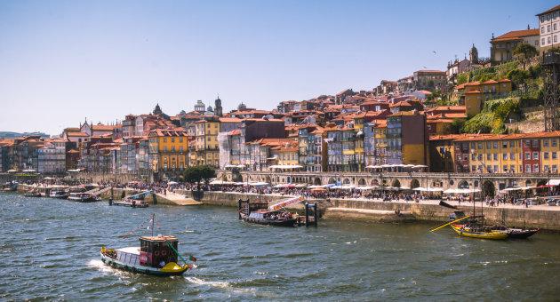 Veel bootjes op de Douro