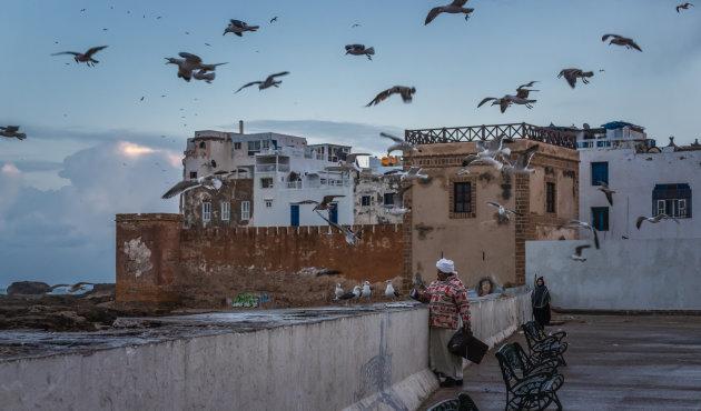 Regen in Essaouira