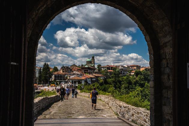 Uitzicht door de poort