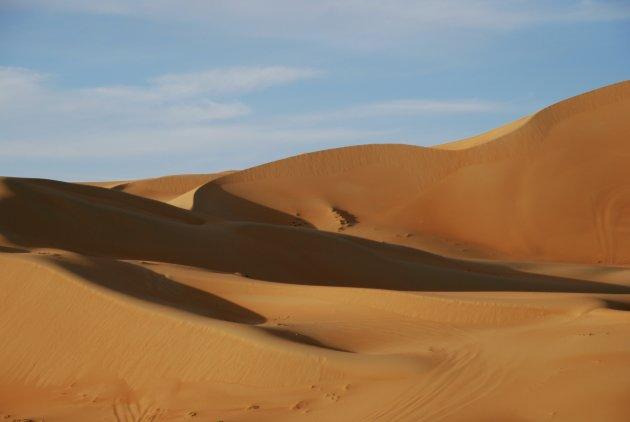 Zandduinen in Abu Dhabi