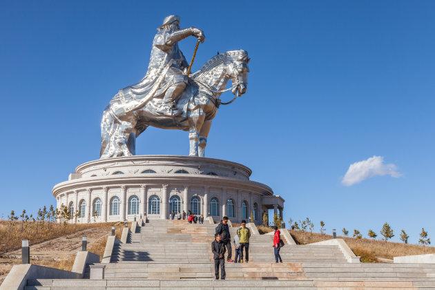 Dzjengis Khan te paard