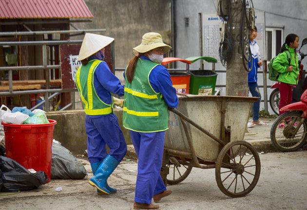 Stoere afvalverwerkers