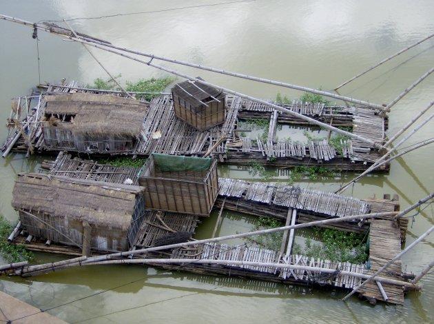Vissersvlotten van bovenaf