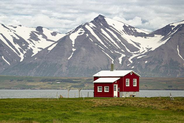 IJsland Akureyri Eyjafjordur (fjord)