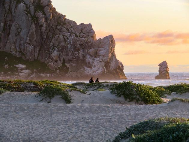 Genieten van de zonsondergang bij Morro Rock