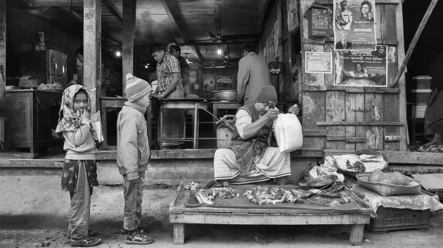 The butcher and the roti seller