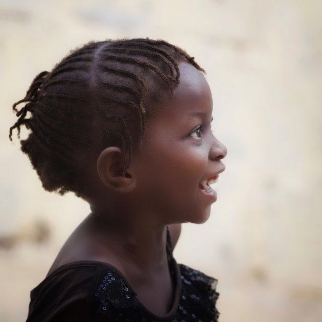 Smiling girl of Africa