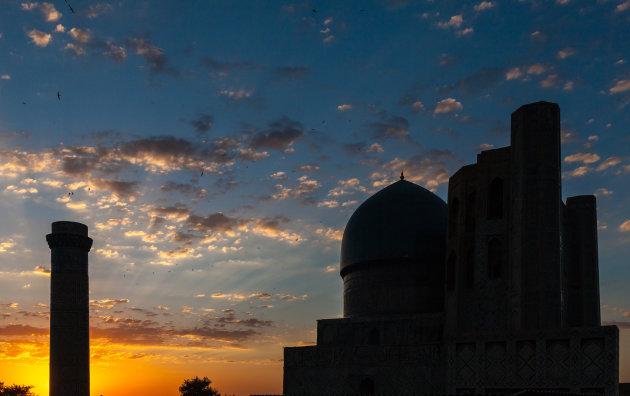 Zonsondergangin Samarkand