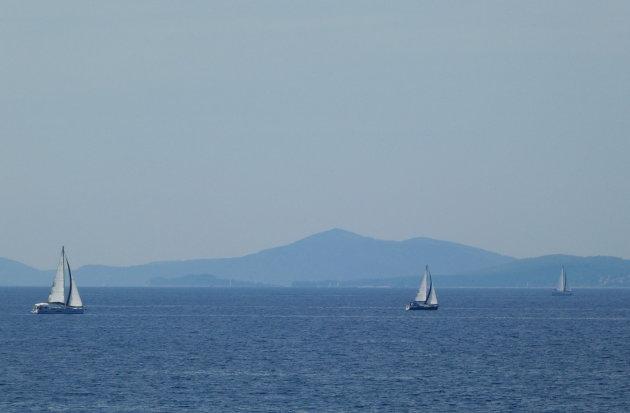 Op de ferry naar Hvar