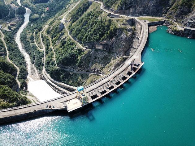 Enguri Dam in Georgië