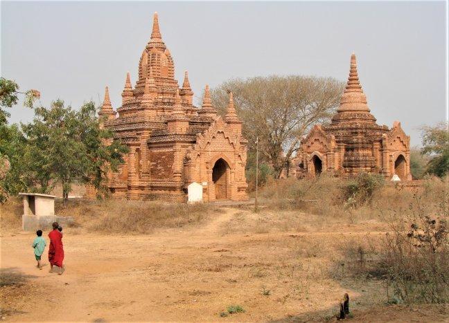 Oude Tempels in Bagan.