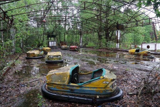 Het verlaten pretpark van Pripjat