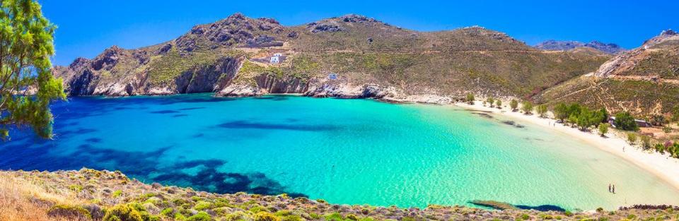 Het eiland Serifos, parel van de Cycladen