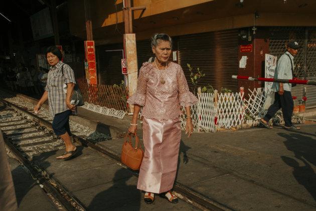Lokale vrouw op de Railway Market