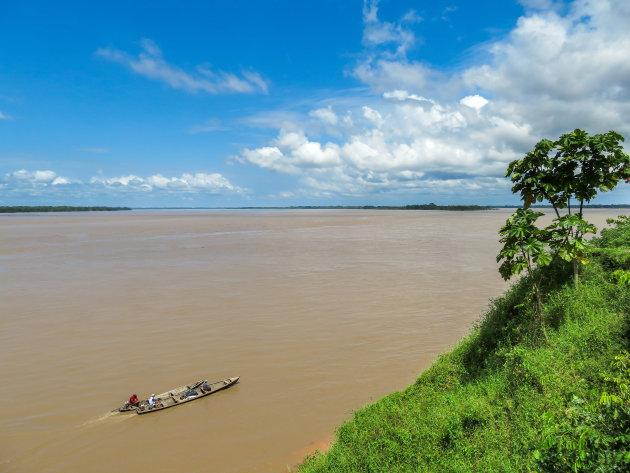 Drielandenpunt op de Amazone