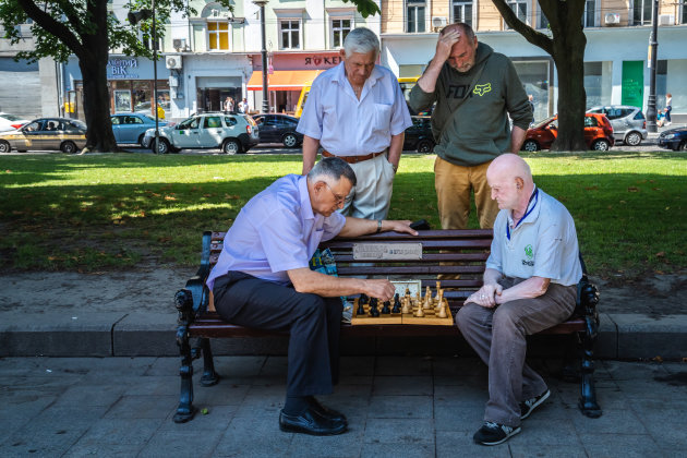 Samen schaken wel zo gezellig