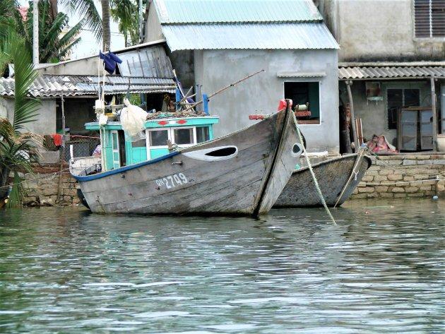 Vissersboot in Hoi An.