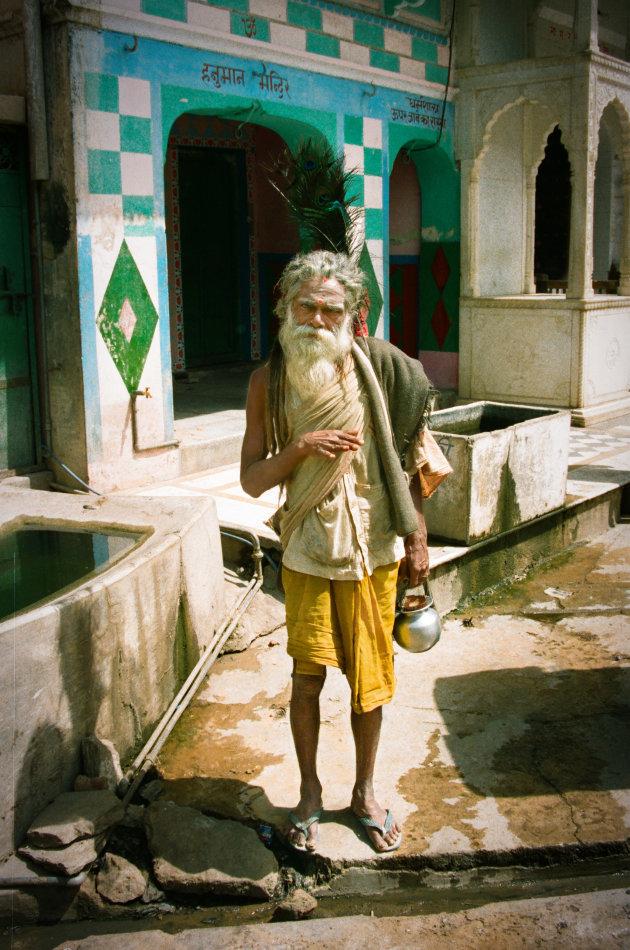 India Pushkar heilige man