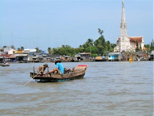 Vissen in de Mekong delta.