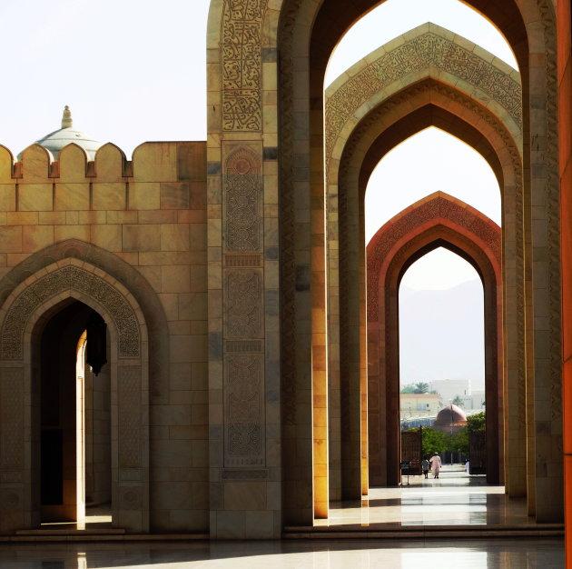 De grote moskee van Muscat