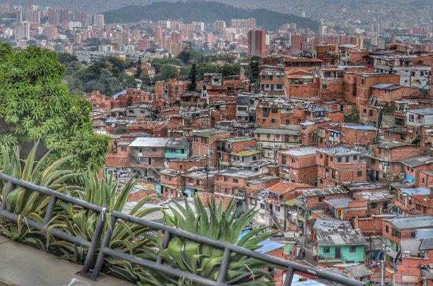 uitkijken over Medellín