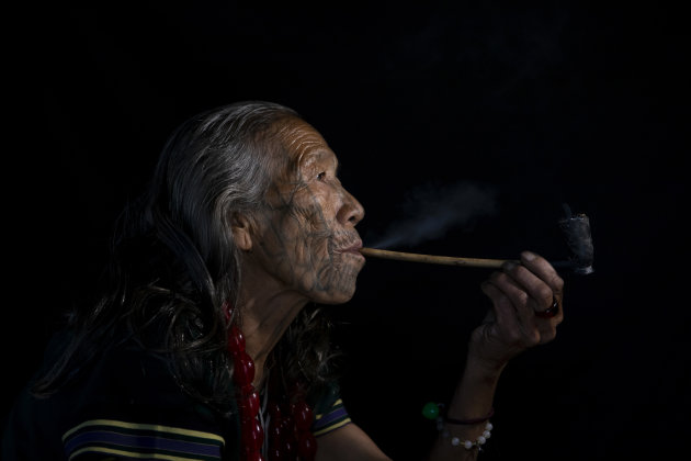 Vrouw van de Chin stam
