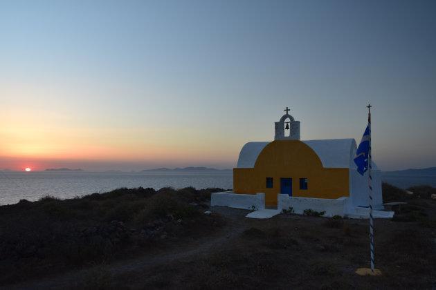 Onze eigen zonsondergang op Santorini