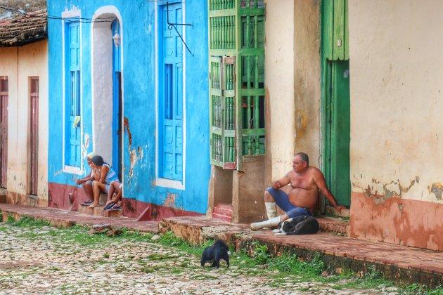 genieten van het straatleven