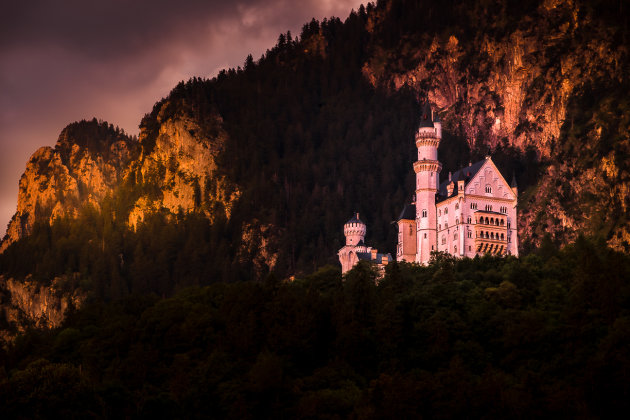 Neuschwanstein by Sunset