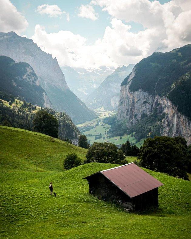 Vallei bij Lauterbrunnen