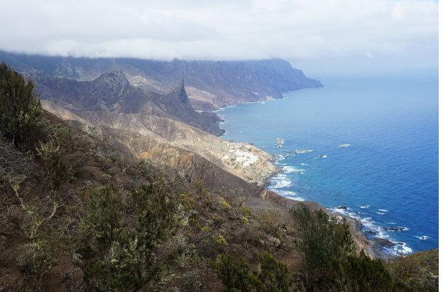 Anagagebergte noordkust Tenerife