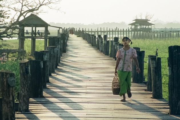 Birma Mandalay U-bein brug